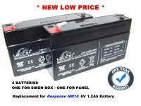 2x Leoch LP6-1.2 - 6v 1.2ah Alarm Batteries